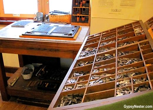 Ben Franklin's Print Shop in Philadelphia