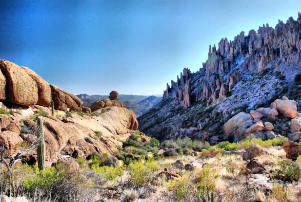 Mysterious Watcher in Superstition Mountains by David of The Roaming Boomers