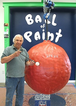 The World's Largest Ball of Paint