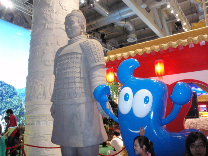 Everyone loves the mascot Haibo for the Shanghai World's Fair. I think? Right? Right? from Living the Dream