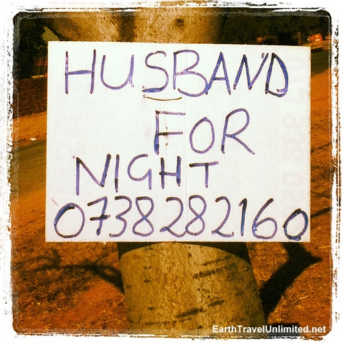 Husband For Night by Clare of Earth Travel Unlimited