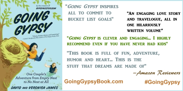 Thank you Amazon reviewers! Going Gypsy: One Couple's Adventure from Empty Nest to No Nest at All - http://goinggypsybook.com #GoingGypsy #books