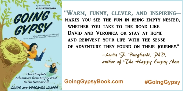 Warm, funny, clever, and inspiring... Going Gypsy: One Couple's Adventure from Empty Nest to No Nest at All - http://goinggypsybook.com #GoingGypsy