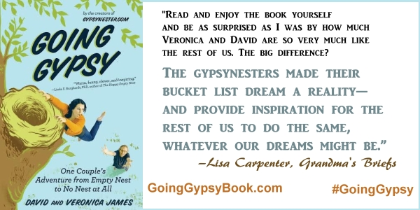 The GypsyNesters made their bucket list dream a reality - Going Gypsy: One Couple's Adventure from Empty Nest to No Nest at All - http://goinggypsybook.com #GoingGypsy #books