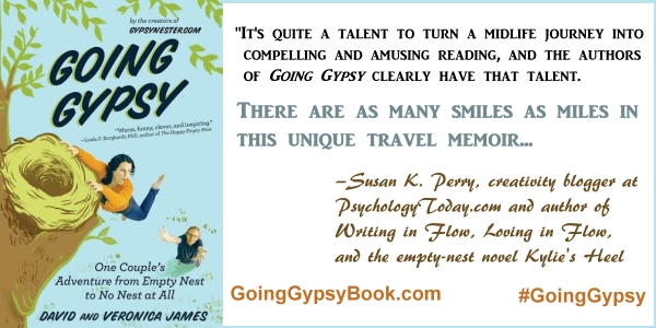 There are as many smiles as miles in this unique travel memoir... Going Gypsy: One Couple's Adventure from Empty Nest to No Nest at All - http://goinggypsybook.com #GoingGypsy #books