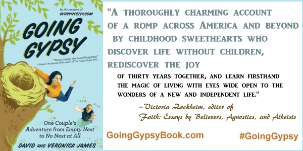 A thoroughly charming account of a romp across America... Going Gypsy: One Couple's Adventure from Empty Nest to No Nest at All - http://goinggypsybook.com #GoingGypsy #books