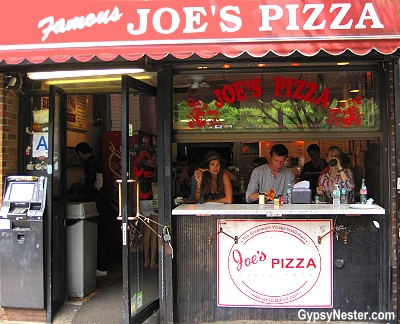 Famous Joe's Pizza in New York City