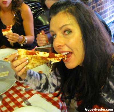 Veronica loves Lombardi's pizza in New York City! GypsyNester.com