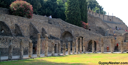 The Grand Palestra in Pompeii, Italy