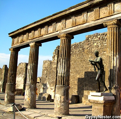The Temple of Apollo in Pompeii