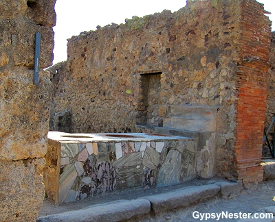 A cafe or bar in Pompeii, Italy