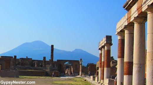 Mount Vesuvius at Pompeii