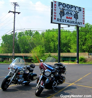 Poopy's Biker Bar in Savanna, Illinois