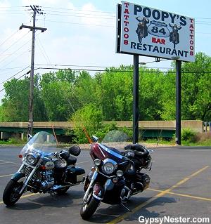 Poopy's Biker Bar in Savanna, Illinois
