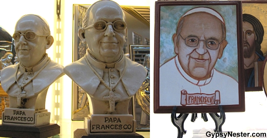Pope souvenirs in Rome