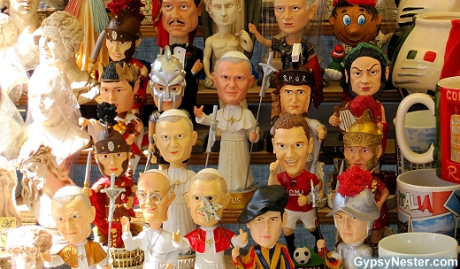 Pope Bobbleheads in Italy