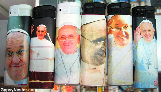 Pope Francis cigarette lighters