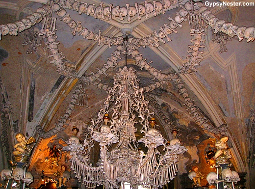 Macabre Human Bone Church of Sedlec, Czech Republic