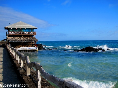 The Iquana Point Bar in Puerto Villamil, Galapagos Islands