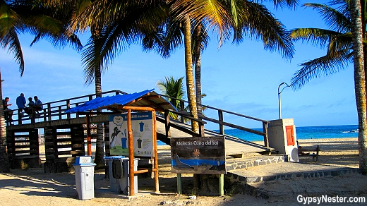 The beach in Puerto Villamil, Galapagos Islands