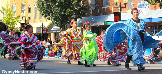 Dancers in the Pumpkin Fest Parade in Sycamore, Illinois