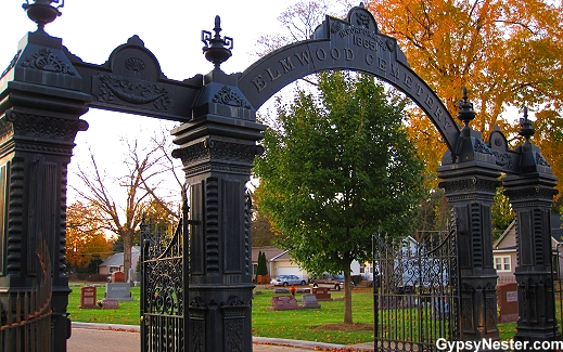 The Elmwood Cemetery Gate in Sycamore, Illinois