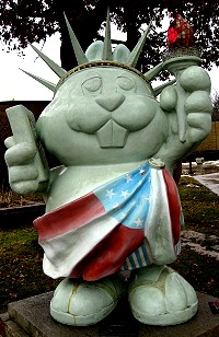 Punxutawney Phil as Lady Liberty