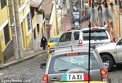 Crazy ride into Quito Equador's Colonial Center