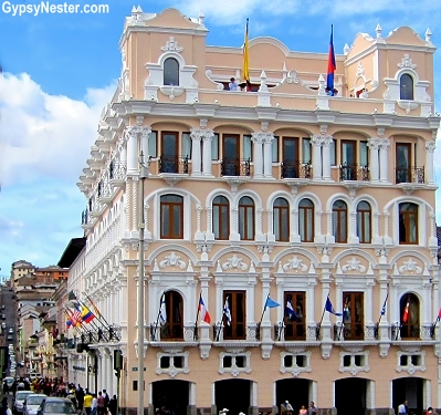 The Plaza Grande Hotel in Quito, Ecuador