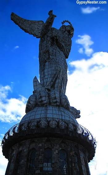 The giant, WINGED, Virgin Mary of Quito, Ecuador!