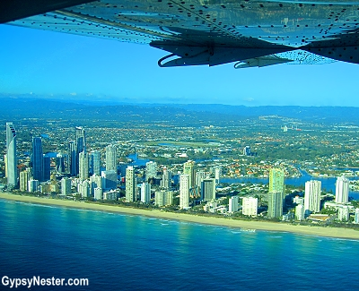 The incredible skyline of high-rises along Gold Coast, Queensland, Australia
