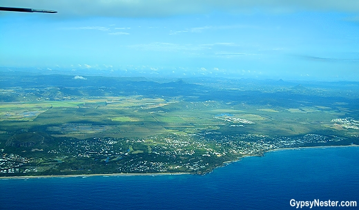 The beautiful Sun Coast from in air of Queensland, Australia