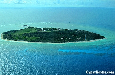Lady Elliot Island from the air in Queensland, Australia
