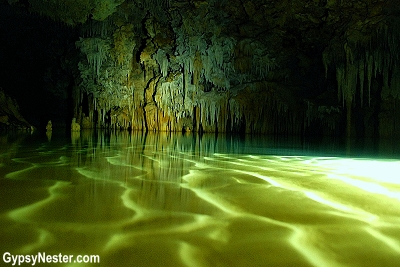 Rio Secreto, underwater cave near Playa del Carmen, Mexico