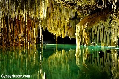 Rio Secreto, underwater cave near Playa del Carmen, Mexico
