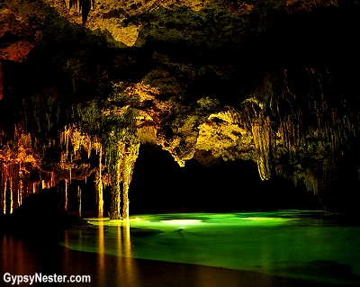 Rio Secreto, underwater cave near Cancun, Mexico