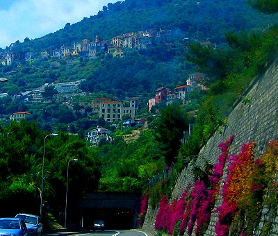 The road along the Riviera