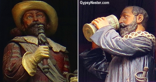The characters of the Glockenspiel in Rothemburg, Germany