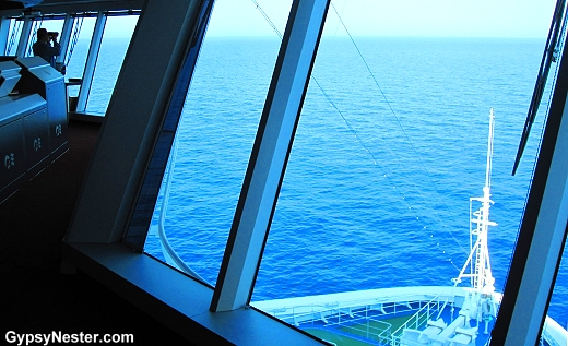 The bridge on The Royal Princess