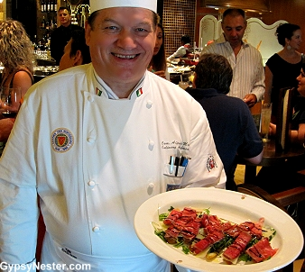 Master Chef Alfredo Marzi on the Royal Princess