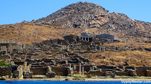 The ruins of Delos