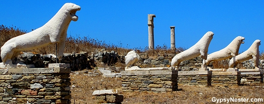 The lions of Delos Greece
