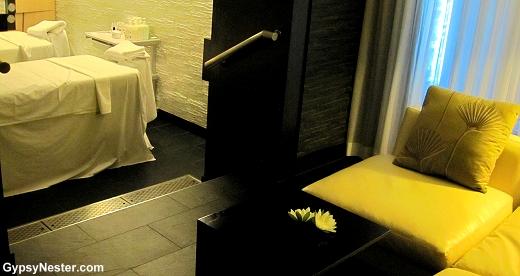 Massage room on the Royal Princess