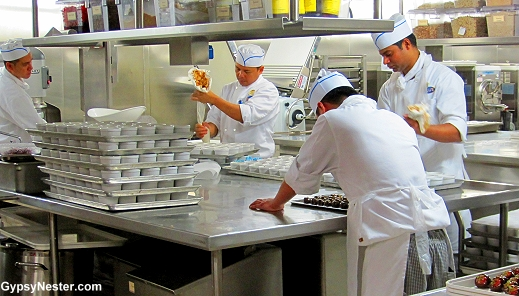 all of the baked goods are made on board the Royal Princess!