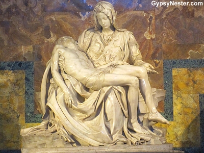 The Pieta at St. Peter's Basilica in The Vatican, Rome