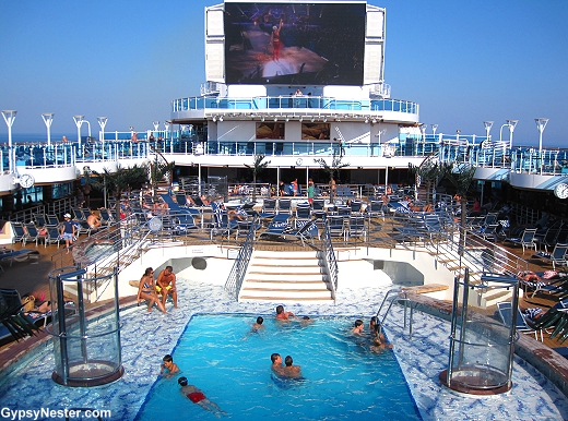 The main pool on Royal Princess