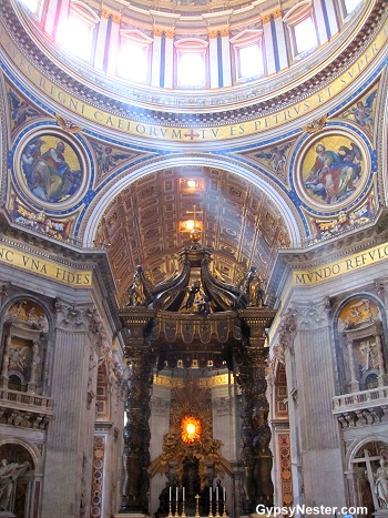 The alter at St. Peters at the Vatican