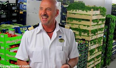 Food & Beverage Director Francesco shows us the ship's stores on Royal Princess