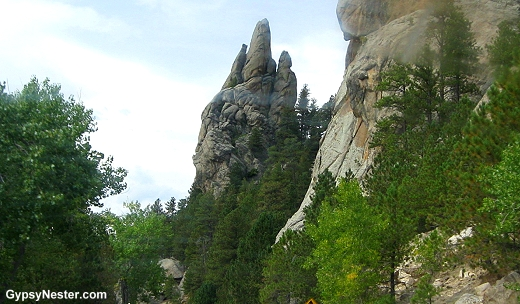 The area around Mount Rushmore