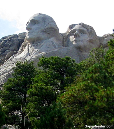 A different angle of Mount Rushmore
